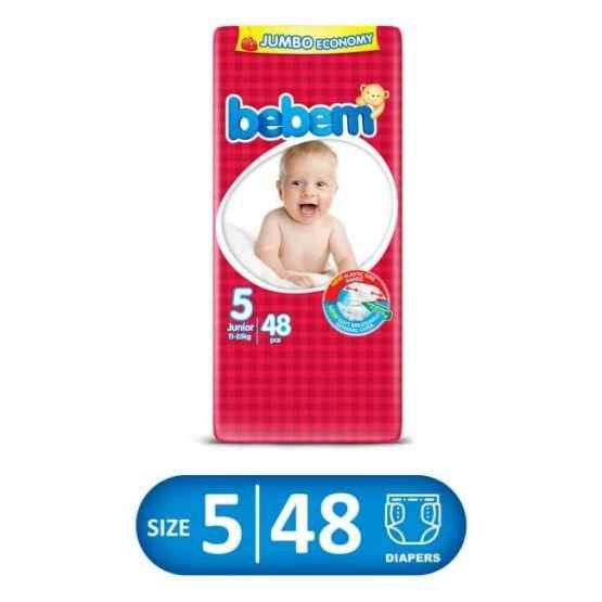 Bebem Jumbo Pack Junior Size 5 (11-25) Extra Large XL – 48 Pcs