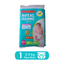 Royal Baby Diapers New born Pack Size 1 - 50 pcs