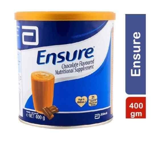 Abbot Ensure Nutritional Supplement Powder ? Chocolate ? 400 grams Complete Balanced Nutrition