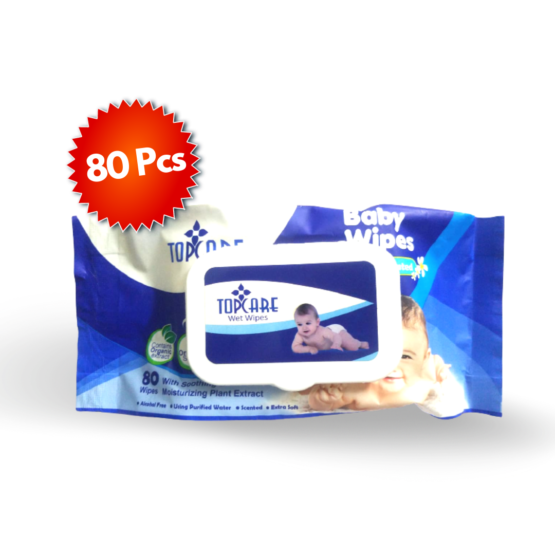 Top Care Baby Wipes – 80 Sheets