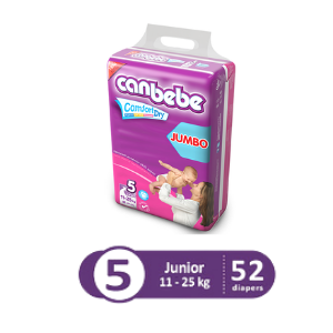 Canbebe Jumbo Pack For Junior – Size 5 – 52 Pcs