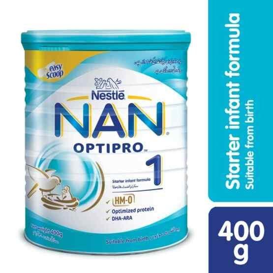 Nan Optipro Stage 1, Starter Infant Formula Milk Powder, For 0-6 Months, 400 grams