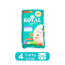 Royal Baby Diapers Large Pack Size 4 - 50 pcs
