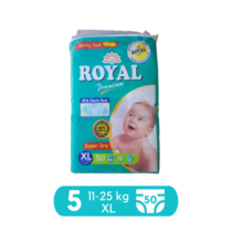 Royal Baby Diapers XLarge Pack Size 5 - 50 pcs