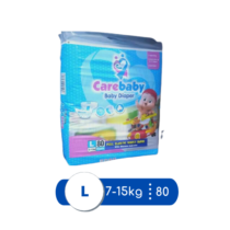 Care Baby Diapers Large Mega Pack Size 4 - 80 pcs
