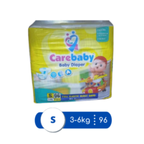 Care Baby Diapers Small Mega Pack Size 2 - 96 pcs
