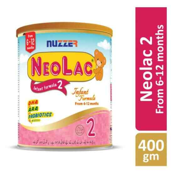 Nuzzer Neolac Infant Formula 2 400 grams Tin Pack 6 to 12 months