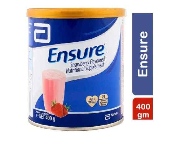 Abbot Ensure Nutritional Supplement Powder ? Strawberry ? 400 grams Complete Balanced Nutrition