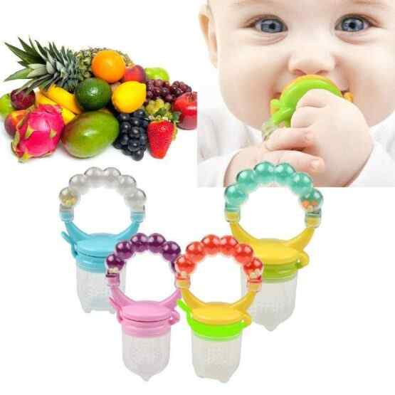 Baby Fruit & Vegetable Feeding Pacifier with Rattle – Fruit Soother – Fruit Feeder – Eat n Play