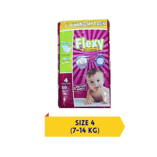 Flexy baby diapers – 3D Soft – Large Size 4 – 50 Pcs