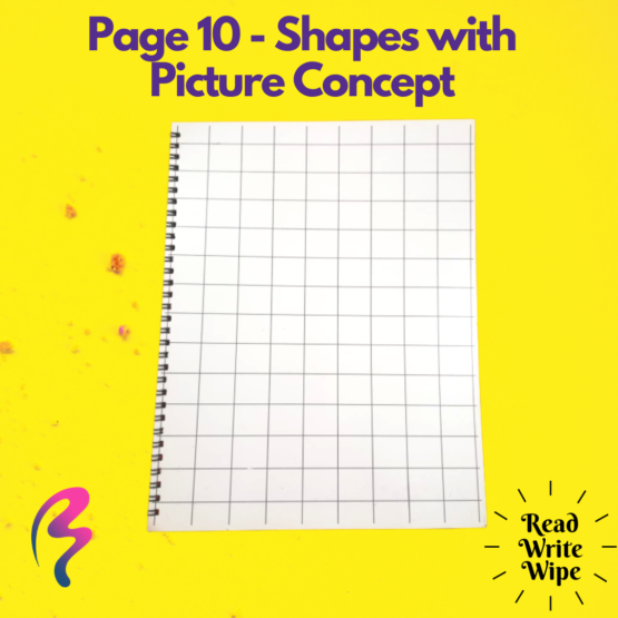 Magic White Note Book, Read write trace & wipe reusable book for kids - page 10