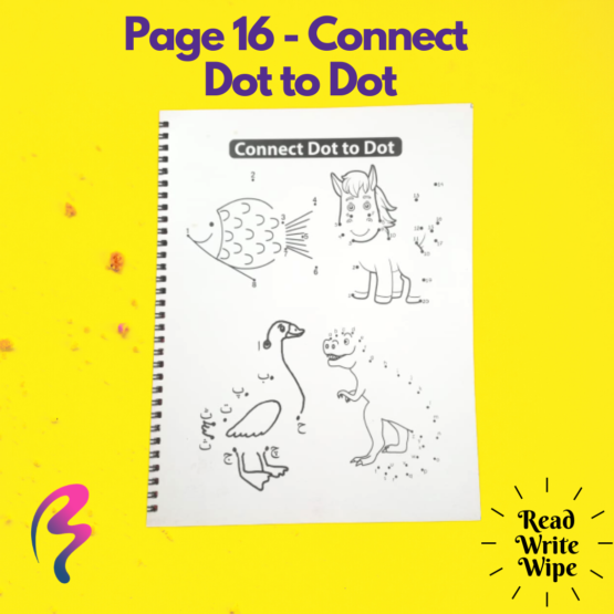Magic White Note Book, Read write trace & wipe reusable book for kids - page 16