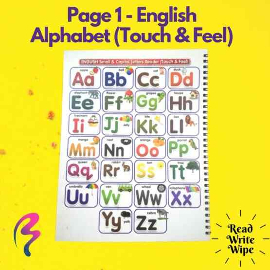 Magic White Note Book, Read write trace & wipe reusable book for kids - page 1