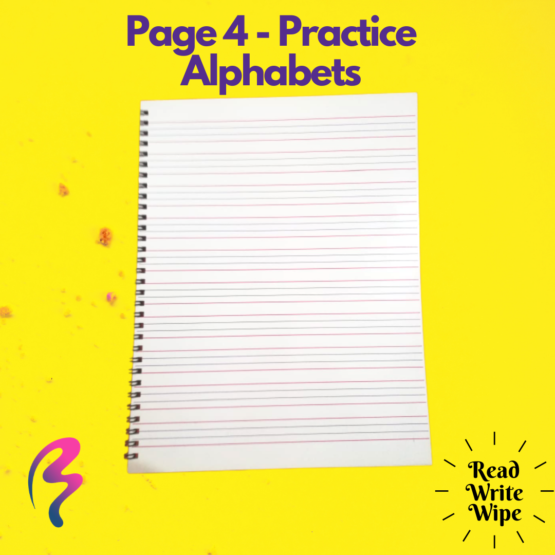 Magic White Note Book, Read write trace & wipe reusable book for kids - page 4