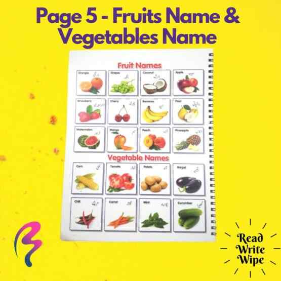 Magic White Note Book, Read write trace & wipe reusable book for kids - page 5