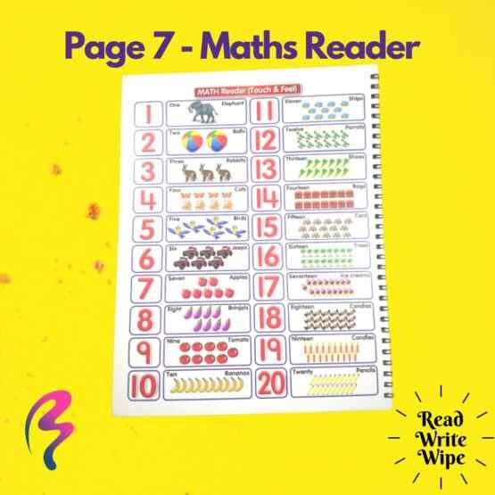 Magic White Note Book, Read write trace & wipe reusable book for kids - page 7