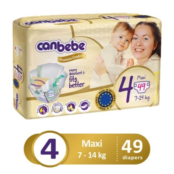 Canbebe Premium Pack For Maxi Size 4 – Large – 49 Pcs