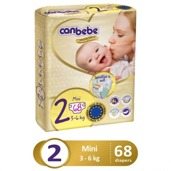 Canbebe Premium Pack For Mini Size 2 – Small – 68 Pcs