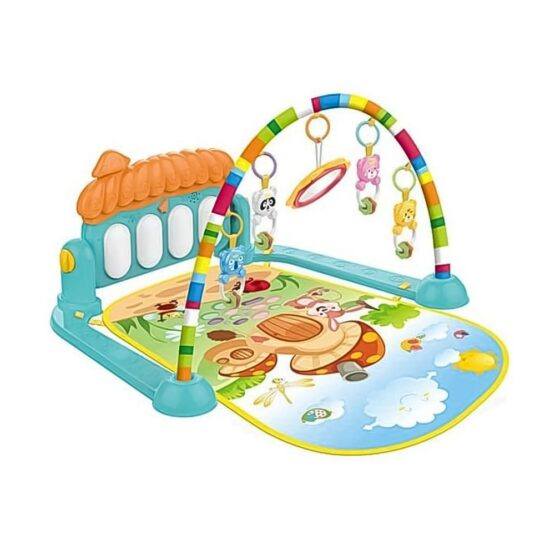 Huanger – 3 In 1 Newborn Baby Play Gym Piano Fitness Rack Mat #HE0639