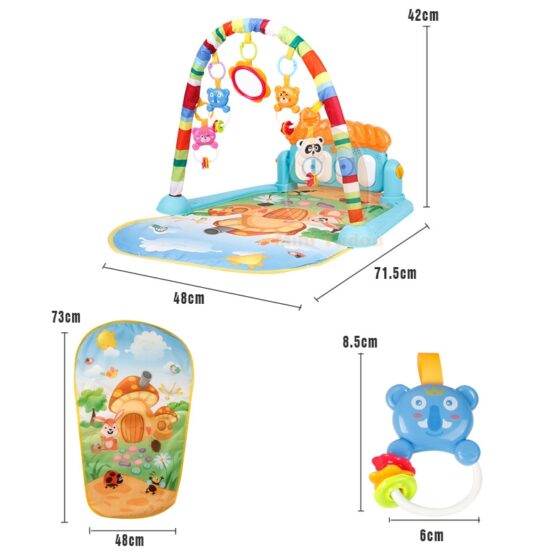 Baby Play Gym Piano Fitness Rack Mat-10