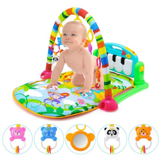 Baby Play Gym Piano Fitness Rack Mat-12