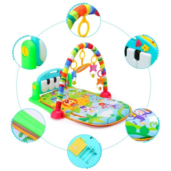 Baby Play Gym Piano Fitness Rack Mat-13