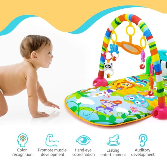 Baby Play Gym Piano Fitness Rack Mat-15