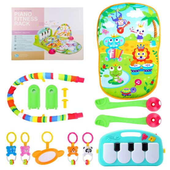 Baby Play Gym Piano Fitness Rack Mat-16