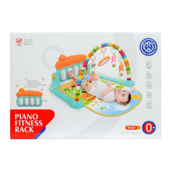 Baby Play Gym Piano Fitness Rack Mat-2