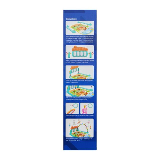 Baby Play Gym Piano Fitness Rack Mat-3