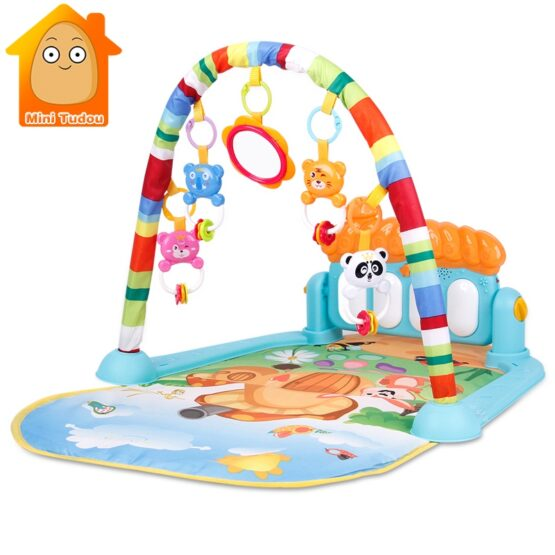 Baby Play Gym Piano Fitness Rack Mat-5