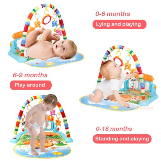 Baby Play Gym Piano Fitness Rack Mat-6