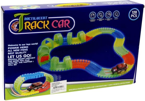 Kids Magic Track 7203 The Racetrack That Can Bend & Glow