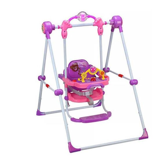 Musical Swing Jhoola For Baby In Metal Frame Baby Swing Foldable Children Swing High Quality with Musical Toys