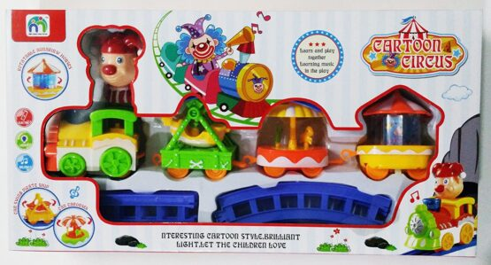 Cartoon Circus Trains Toy For Kids #989-11