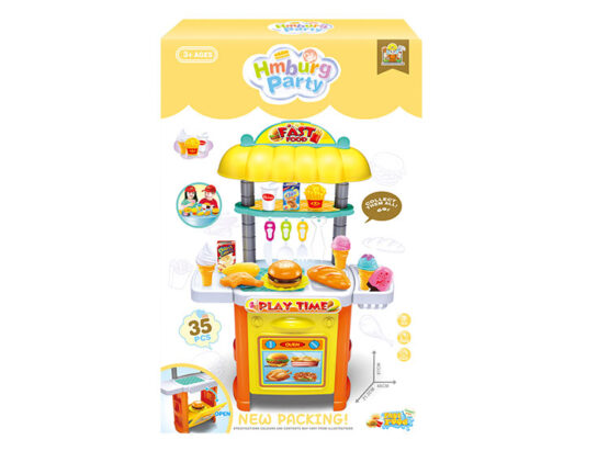 Hamburger party fast food play time plastic big toy play set #36778-111