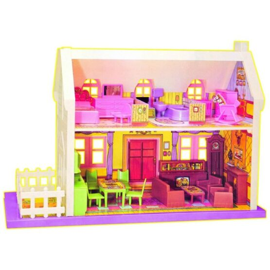 My Little Doll House Playset- Set of 34 Pieces Doll House for Girls (Multicolor) Accessories Included #993