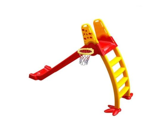 Kids 4 Step Slide High Quality Yellow Indoor Fun Slide with Basket Ball